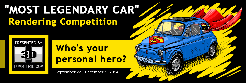 Most Legendary Car Render Competition for CG Artists